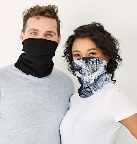 Snood - White & Black (2 in a pack) - Hip Hop Fashion