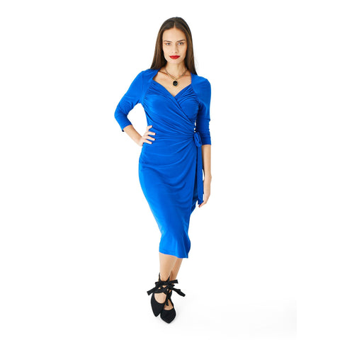 Dress - Daisy - Cobalt Blue - Hip Hop Fashion