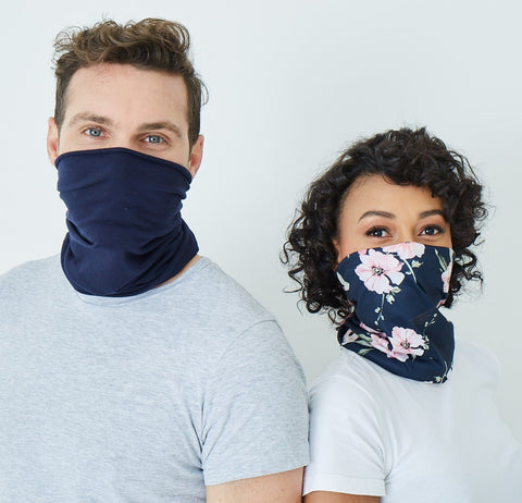 Snood - Salmon & Navy (2 in a pack) - Hip Hop Fashion