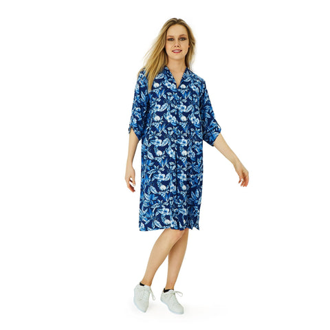 Dress - Bernice - Indigo - Hip Hop Fashion