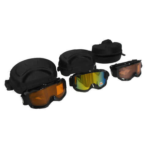 Orange, Polarized and Red Snowmobile Goggles