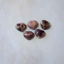 Load image into Gallery viewer, Amethyst Heart 30mm
