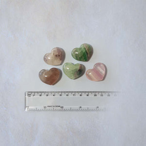 Rainbow Fluorite Heart 30mm