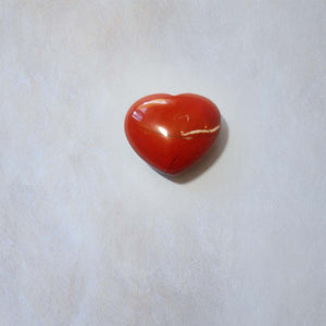 Red Jasper Heart 30mm