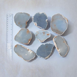 Angelite Half Cut Raw Stone - Absolutely Stunning!