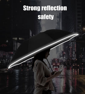 Reversible Umbrella with LED Torch Handle