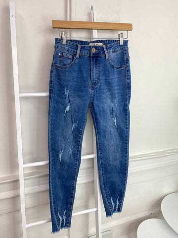 BS Ripped Jeans -  Mid Blue