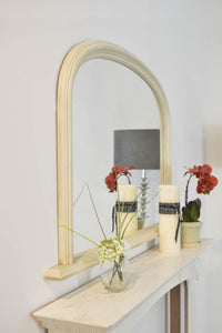 Large Ivory Crackle Over Mantle Big Wall Mirror Bargain 4Ft X 2Ft7 120cm X 79cm