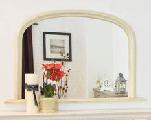 Load image into Gallery viewer, Large Ivory Crackle Over Mantle Big Wall Mirror Bargain 4Ft X 2Ft7 120cm X 79cm