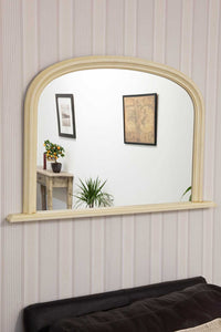 Large Ivory/Cream Over Mantle Overmantle Big Wall Mirror 4Ft X 2Ft7 120cm X 79cm