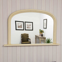 Load image into Gallery viewer, Large Ivory/Cream Over Mantle Overmantle Big Wall Mirror 4Ft X 2Ft7 120cm X 79cm