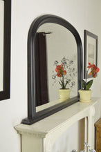 Load image into Gallery viewer, Large Matt Black Over Mantle Big Overmantle Wall Mirror 4Ft X 2Ft7 120cm X 79cm