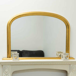 Bowler Gold Elegant Large Overmantle Mirror 120cm x 79cm