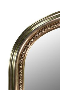 Large Champagne Silver Antique Over Mantle Wall Mirror 4Ft2 X 3Ft 127cm X 91cm