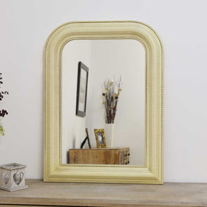 Large Ivory Crackle Over Mantle Big Overmantle Wall Mirror 2Ft8 X 2Ft
