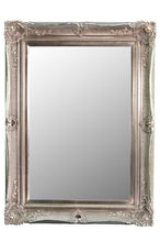 Load image into Gallery viewer, Large Antique Style Silver Ornate Wood Wall Mirror 4Ftx3Ft Rectangle Overmantle