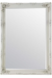 Carved Louis Ivory Extra Large Wall Mirror 215 x 154 CM