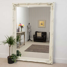 Load image into Gallery viewer, Carved Louis Ivory Extra Large Wall Mirror 215 x 154 CM