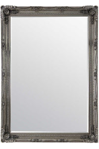 Carved Louis Silver Extra Large Wall Mirror 215 x 154 CM