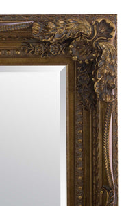 Carved Louis Gold Extra Large Wall Mirror 215 x 154 CM
