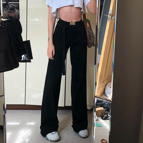 High Waisted Vintage Loose Trousers