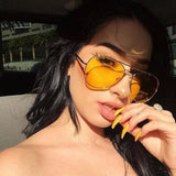 Polarized Yellow Tinted Aviators Shades
