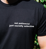 """Not Antisocial"" Tee"