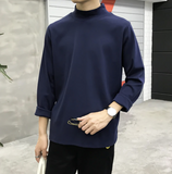 Basic Cotton Mock Turtleneck