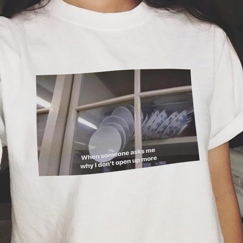 """Why Don't You Open Up"" Tee"