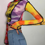 Technicolor Mesh Turtleneck
