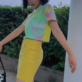 Reflective Tie Dye Crop Top