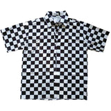 Oversized Checkerboard Button Down