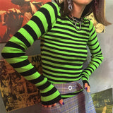 Neon Striped Knit Sweater