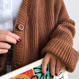 Oversized Thick Knit Cardigan