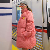 Disaster Checkerboard Puffer Coat