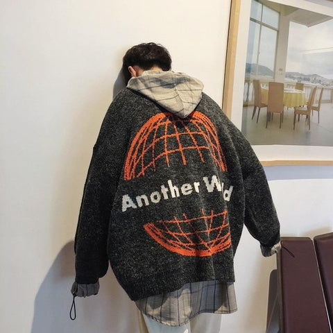 """Another World"" Oversized Sweater"