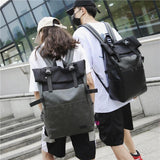 Faux Leather Oxford Backpack
