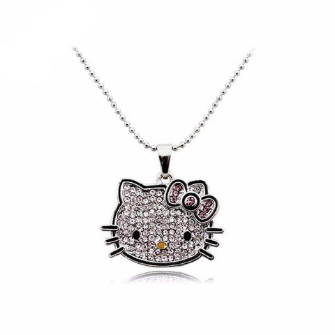 CZ Diamond  Hello Kitty Necklace