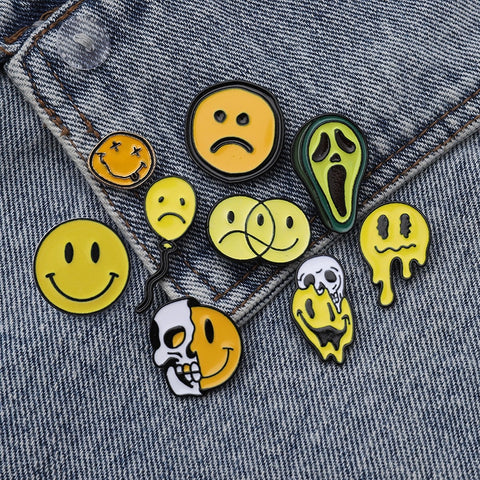 Happy Faces Pins