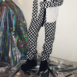 Black And White Checkerboard Trousers
