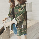 Patched Camouflage Jacket