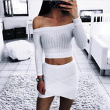 Cut Shoulder Knitted Top