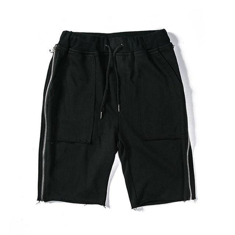 Shorts With Full Side Zipper