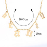 Single Chain Old English Personalized Necklace (12 Characters)