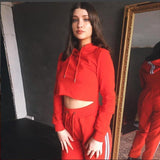 2 Piece Set Cropped Tracksuit