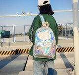 "Iridescent ""Cry Baby"" Rainbow Backpack"