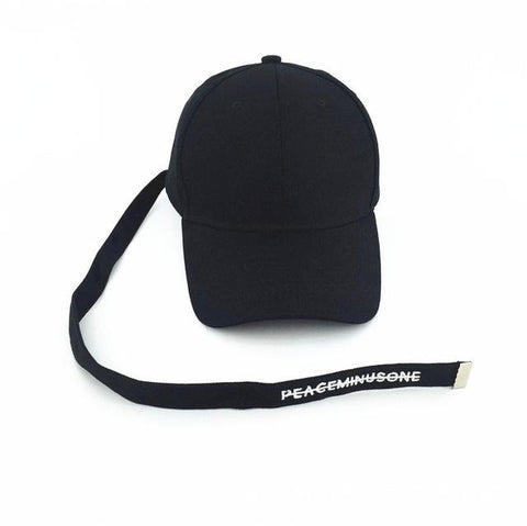 PEACEMINUSONE Long Strap Cap