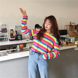 Rainbow Gradient Long Sleeve Shirt