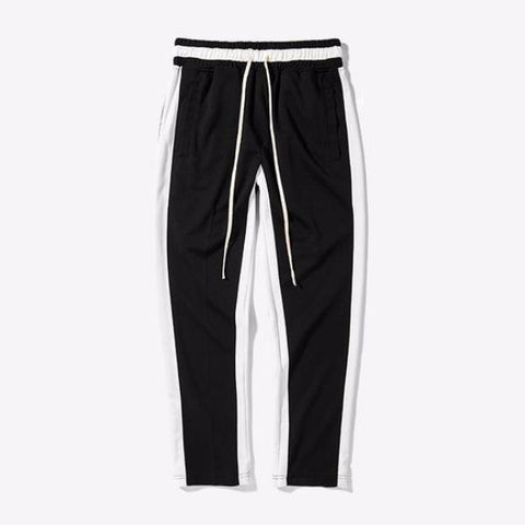 Minimal Striped Two Tone Track Pants
