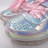 Iridescent Leather Sneaker